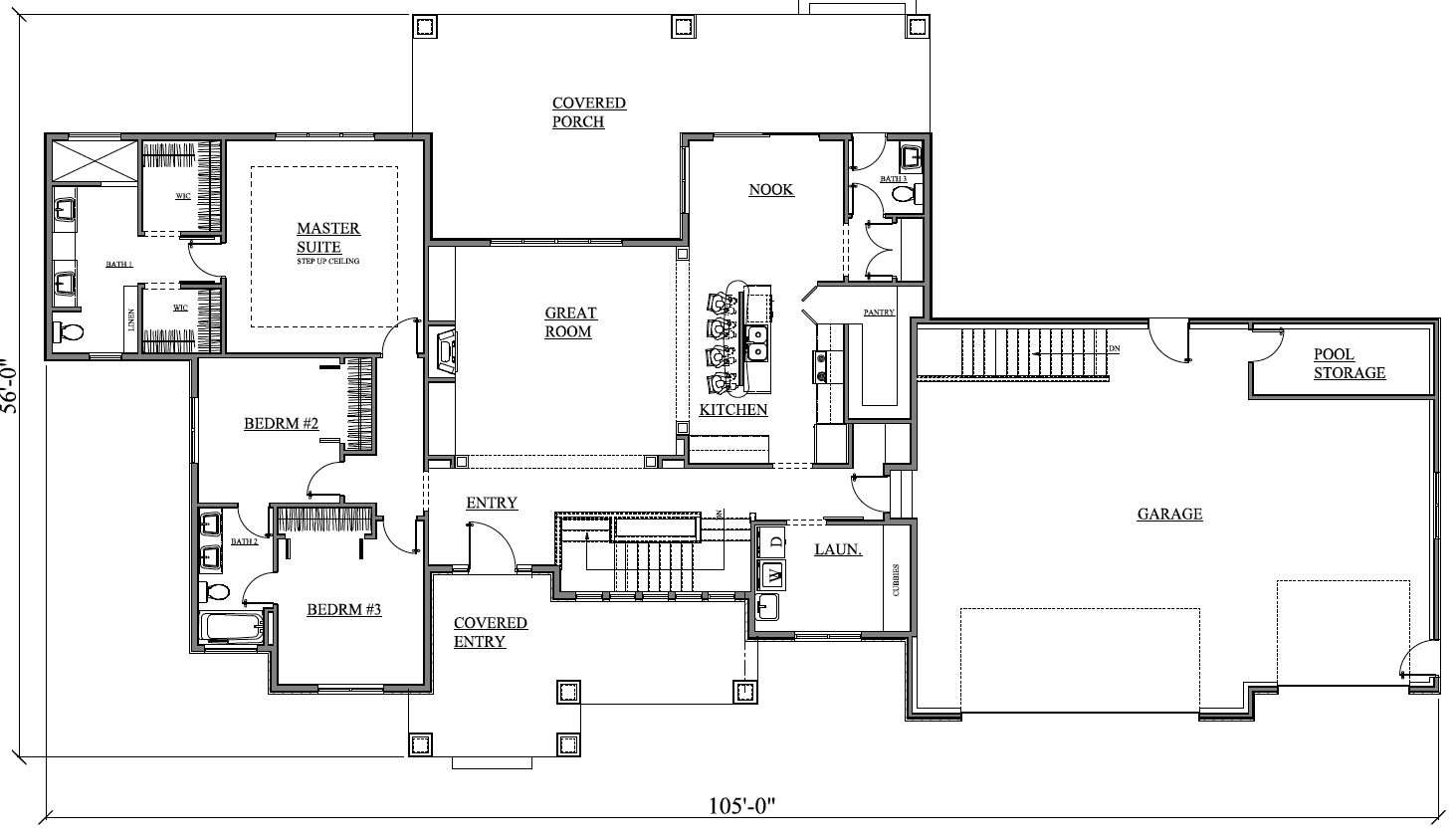 2083r 496 13 prull custom home designs house plans for Home plans with jack and jill bathroom