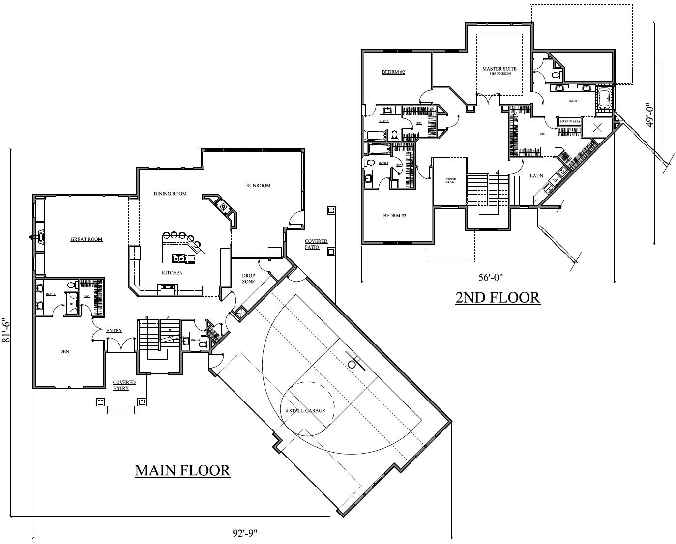 Custom Home Design Almost 4000 Square Feet