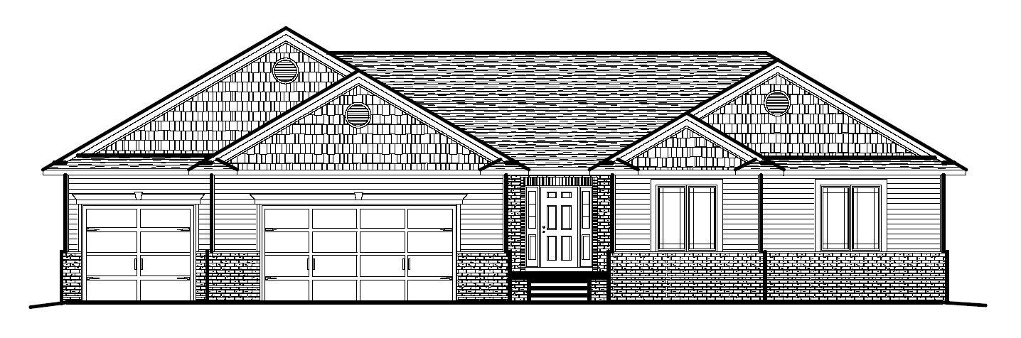 Custom Home Design 1 Story Home
