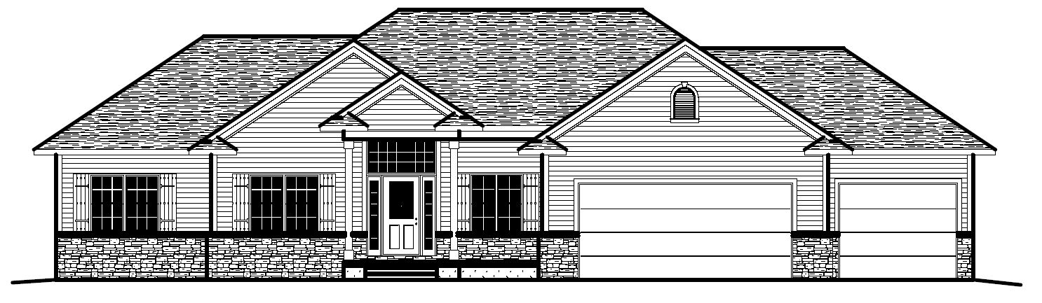 1958r 233 06 prull custom home designs house plans for Design homes iowa