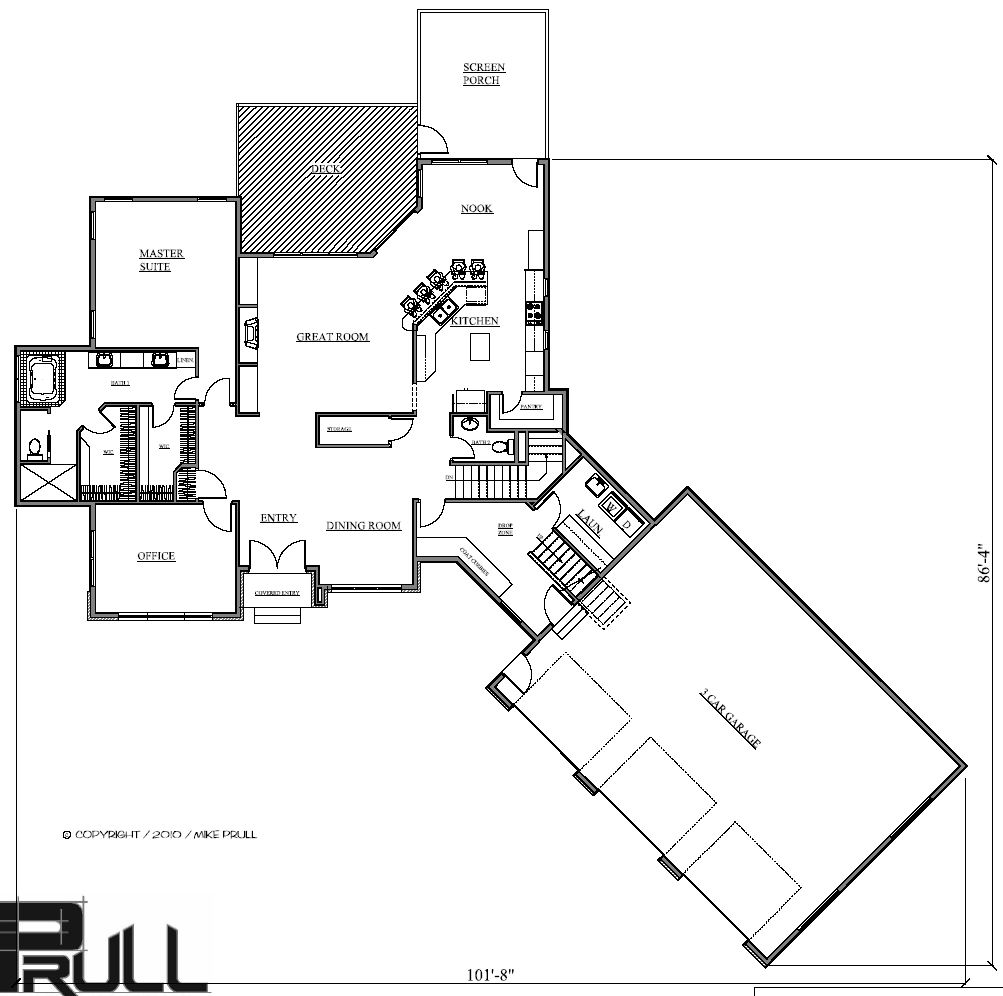 2327r 372 10 prull custom home designs house plans for Design homes iowa