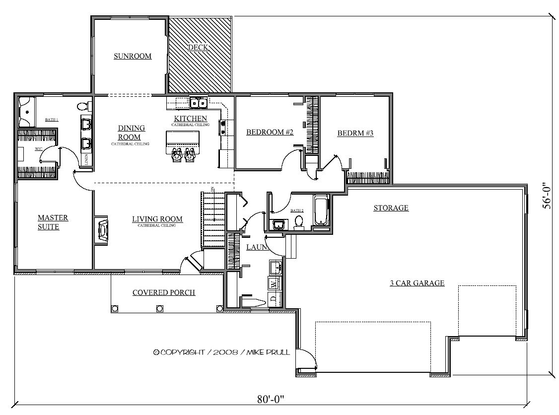 1688r 317 08 prull custom home designs house plans House plans iowa