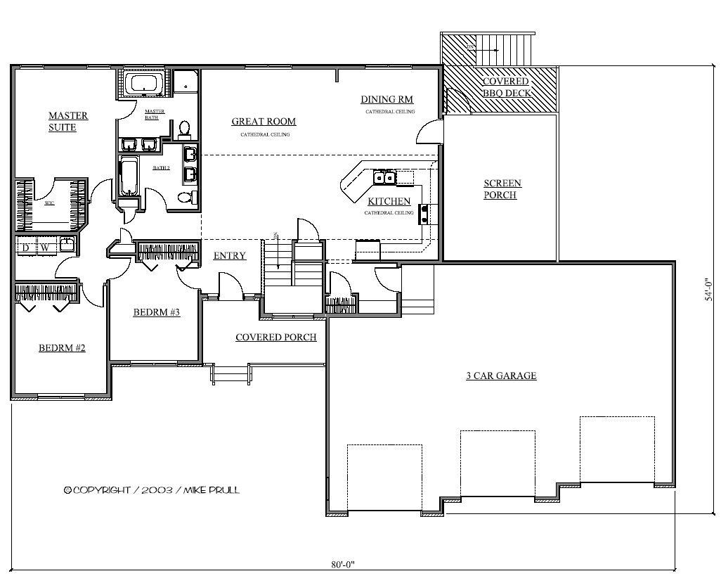 1703r 208 03 prull custom home designs house plans for Design homes iowa