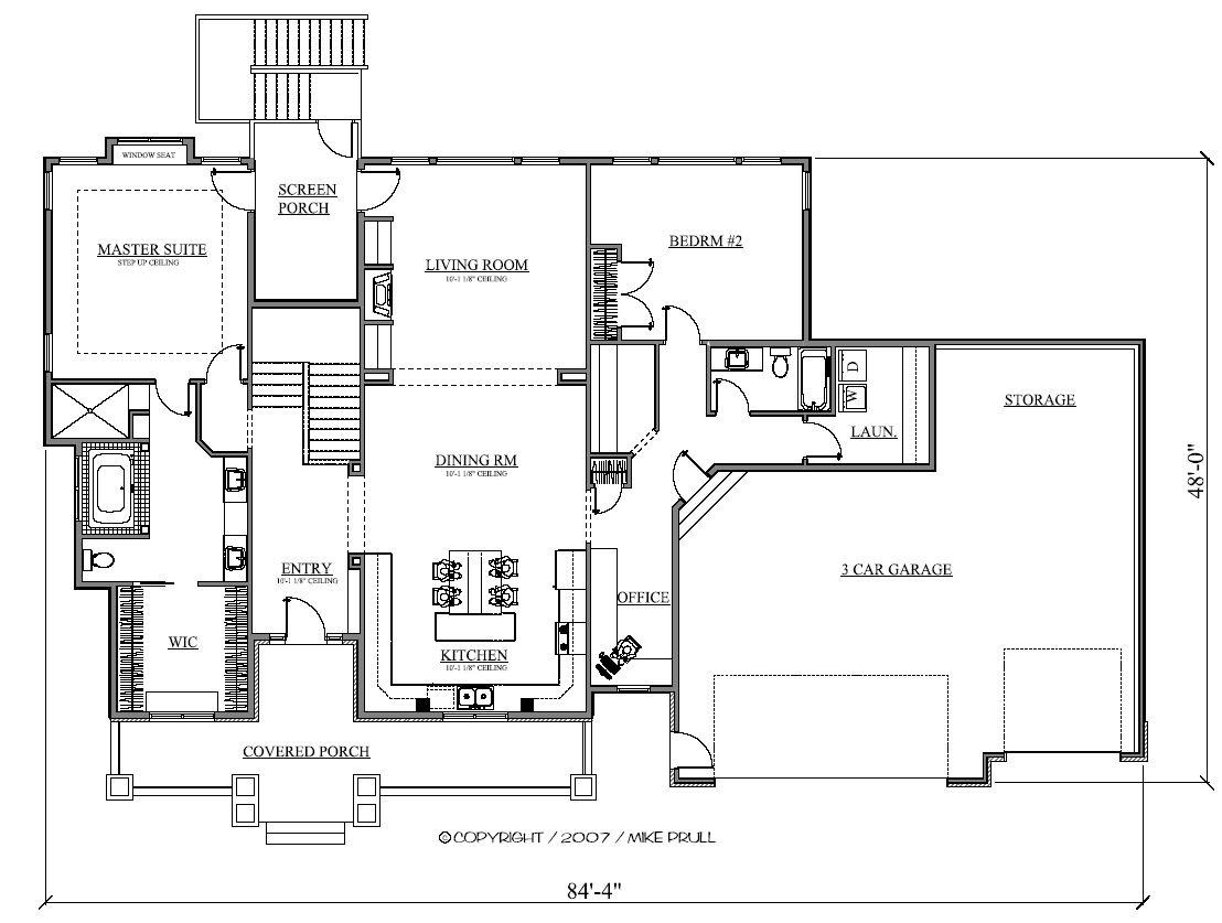 2218r 293 07 prull custom home designs house plans for Design homes iowa