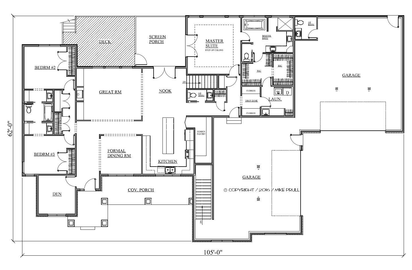 2535r 573 16 prull custom home designs house plans for Design homes iowa