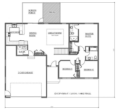 3 Bedrooms Archives - Prull Custom Home Designs   House ... on ranch house plans three bedrooms, ranch house plans pool, ranch house plans two bedroom,